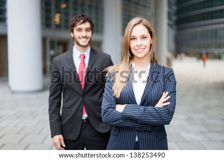 Portrait of a business partners - stock photo