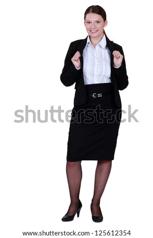 Portrait of a business professional - stock photo