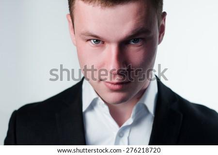 Portrait of a businessman . close-up - stock photo