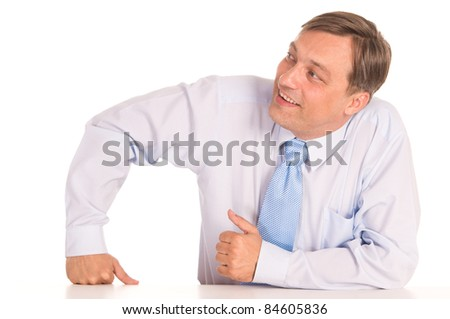 portrait of a businessman in shirt on white