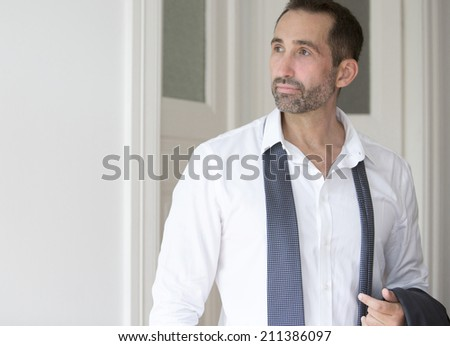 Portrait of a businessman looking to the side