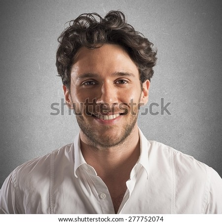 Portrait of a businessman smiling and happy