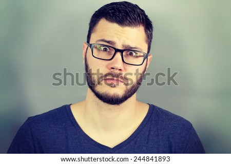 Portrait of a businessman surprised
