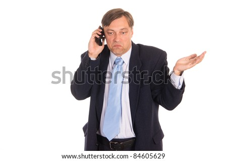 portrait of a businessman with a phone