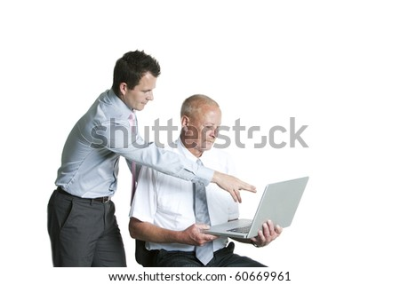 Portrait of a businesspeople using laptop