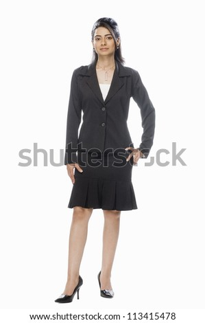 Portrait of a businesswoman - stock photo