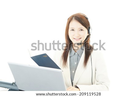 Portrait of a call center operator