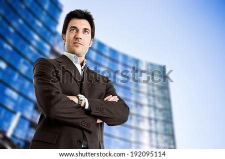 Portrait of a confident business man - stock photo
