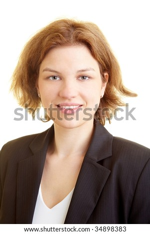 Portrait of a confident business woman - stock photo