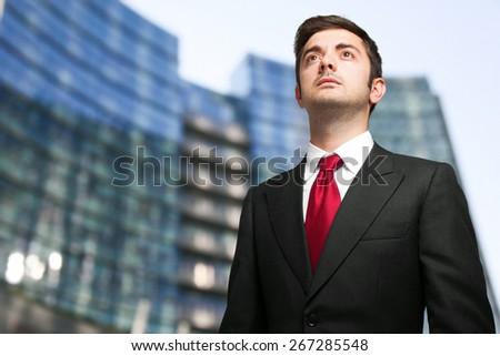 Portrait of a confident businessman - stock photo