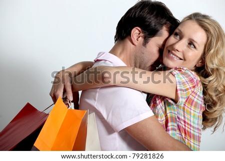 portrait of a  couple - stock photo