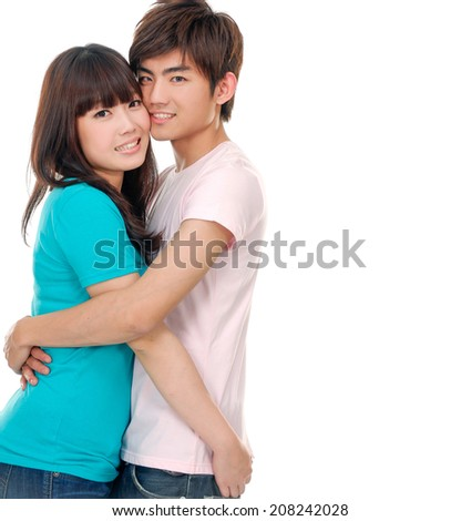 portrait of a couple in love - stock photo