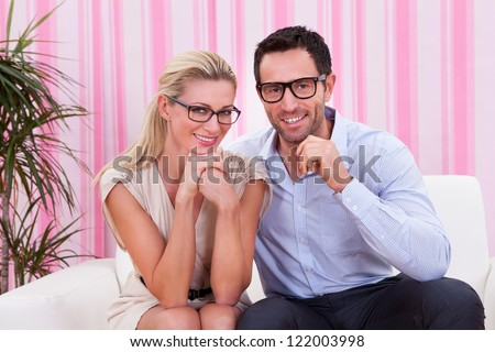 Portrait of a couple in love hugging each other - stock photo