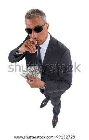 Portrait of a crook - stock photo