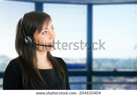 Portrait of a customer service representative