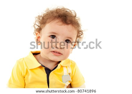Portrait of a cute little boy looking at the camera