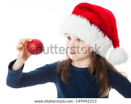 Portrait of a cute little Christmas girl