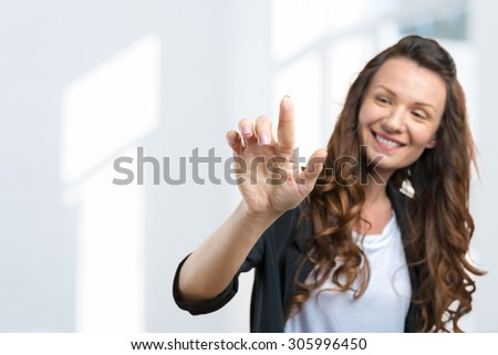Portrait of a cute young business woman