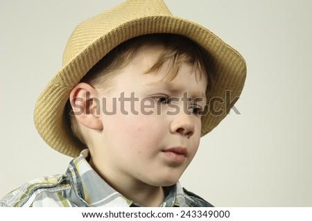 Portrait of a depressed boy - stock photo