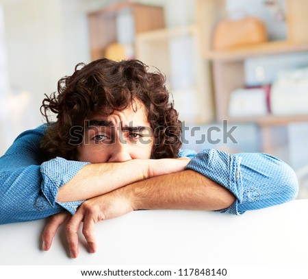 Portrait Of A Depressed Man, Indoor