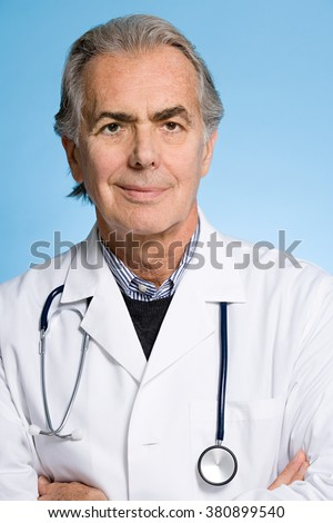 Portrait of a doctor - stock photo