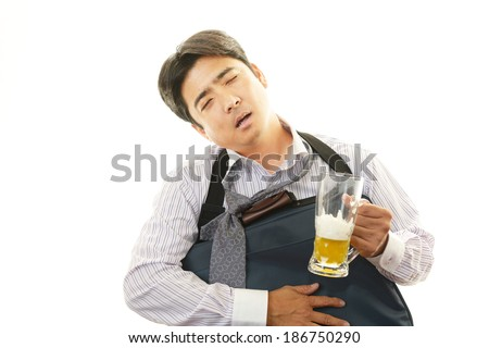 Portrait of a drunken man