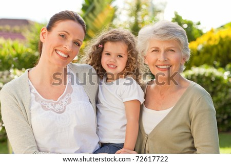 Portrait of a family looking at the camera