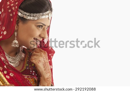 Portrait of a female dandiya dancer