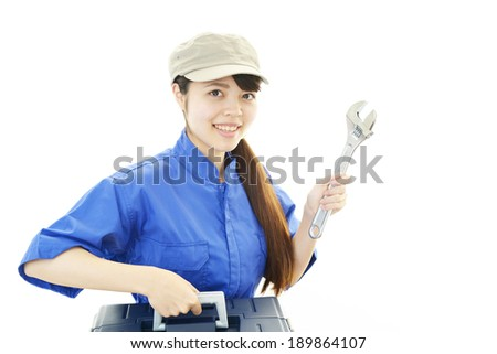 Portrait of a female worker