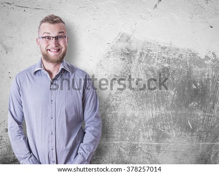 portrait of a funny business - stock photo