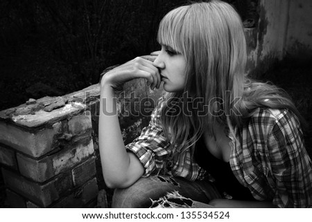 portrait of a girl - stock photo