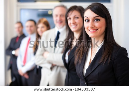 Portrait of a group of smiling business people
