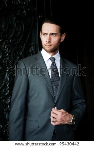 portrait of a handsome businessman - stock photo