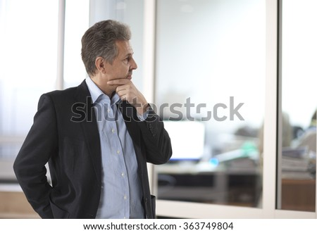 Portrait of a handsome casual businessman - stock photo