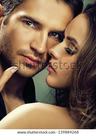 Portrait of a handsome couple - stock photo