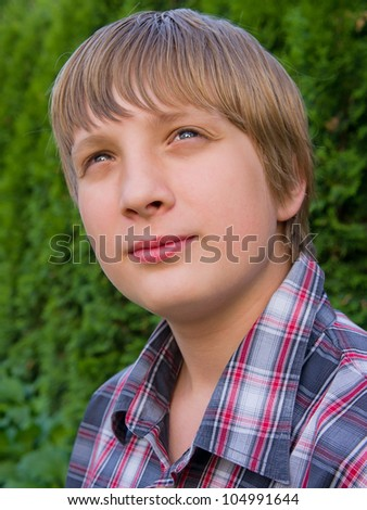 Portrait of a handsome guy in shirt - stock photo