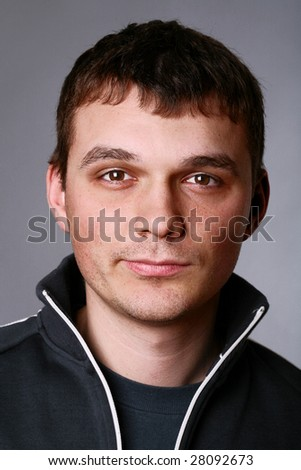 portrait of a handsome man - stock photo