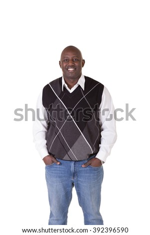 Portrait of a handsome man isolated on white - stock photo