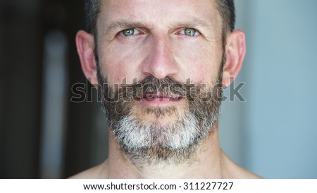 portrait of a handsome man with beard