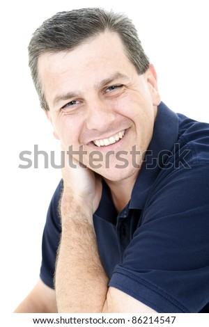 Portrait of a handsome middle aged man - stock photo