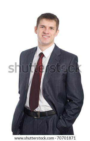 Portrait of a handsome smiling young businessman.