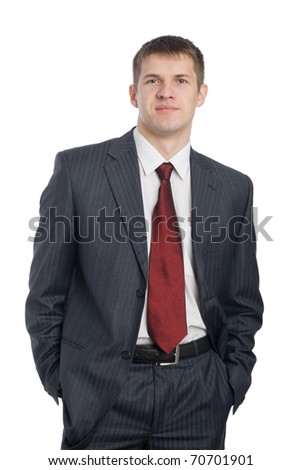 Portrait of a handsome smiling young businessman. - stock photo