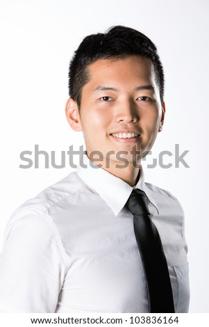 Portrait of a Happy Asian business man.