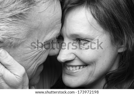 Portrait of a happy couple - stock photo