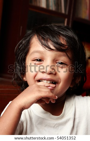 Portrait of a happy Indian kid
