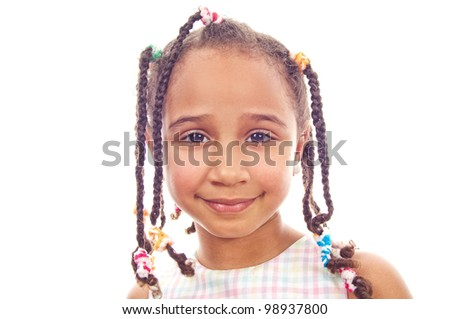 Portrait of a happy little girl-collection - stock photo