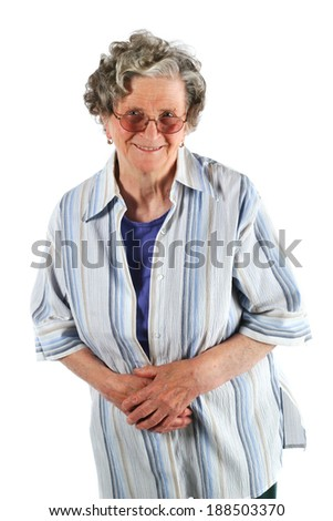 Portrait of a happy mature senior woman