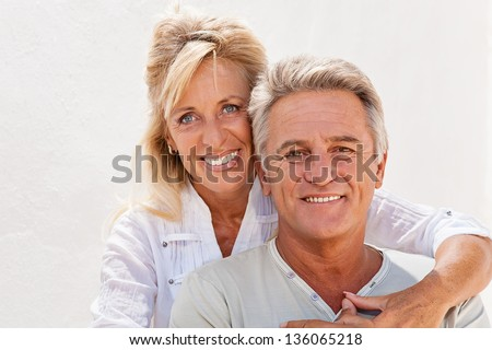 Portrait of a happy romantic couple. - stock photo