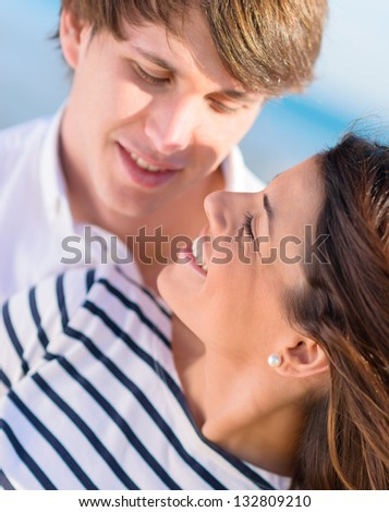 Portrait Of A Happy Romantic Young Couple