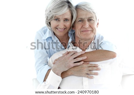Portrait of a happy senior couple - stock photo